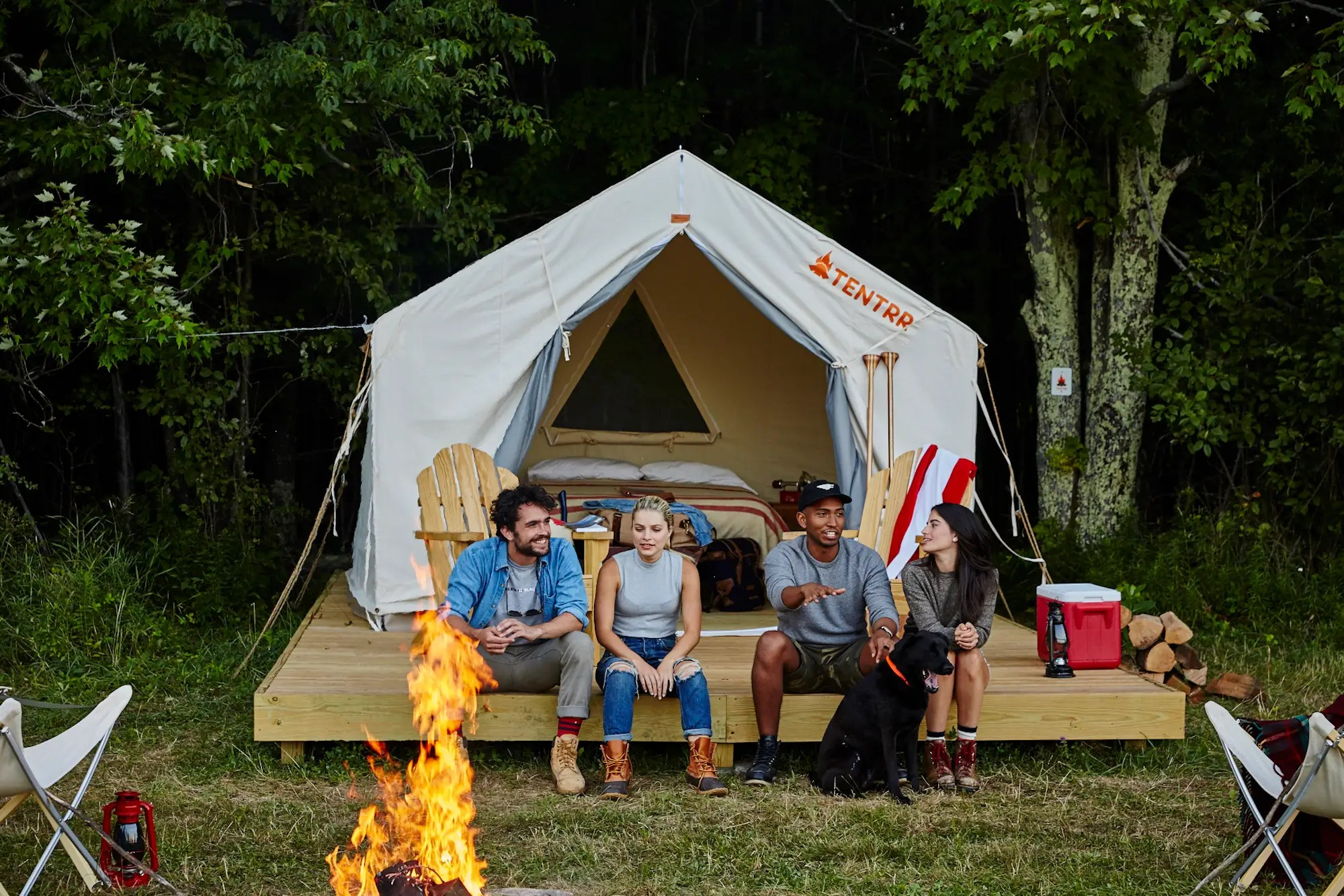 "D'Agostino refuses to call it ""glamping,"" a luxury variety of camping that's made to be shared on Instagram, though the accommodations at Tentrr tick off all the right boxes."