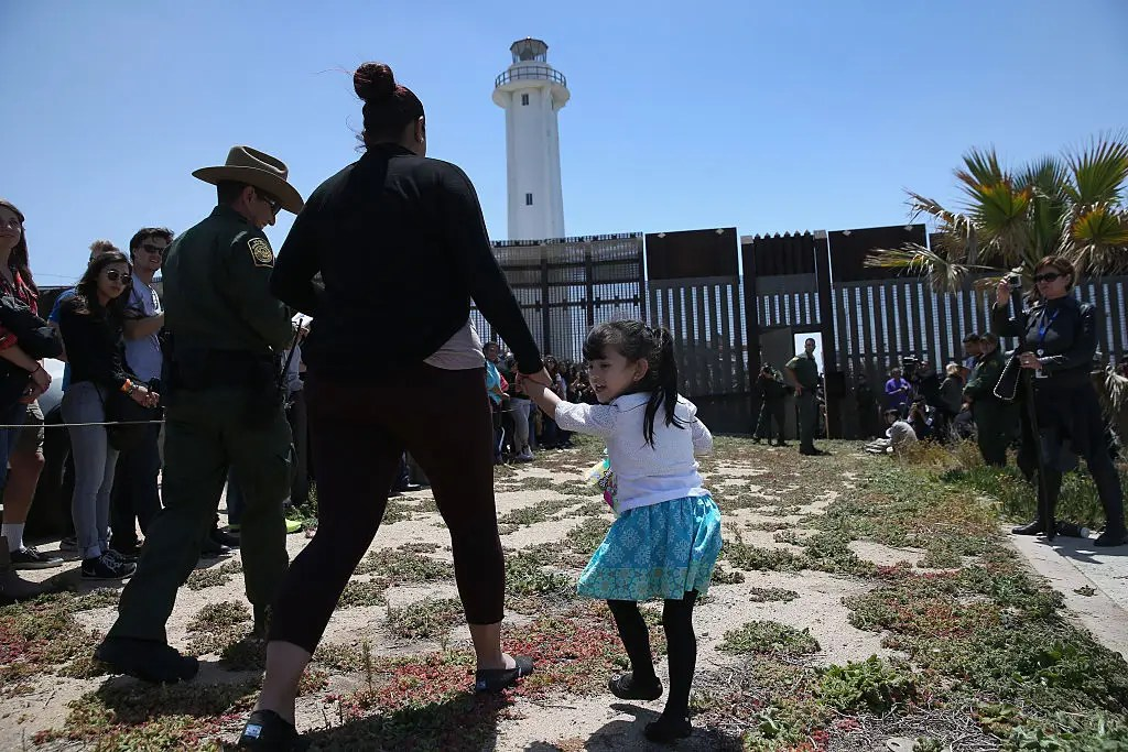 In celebration of the Mexican holiday Children's Day in 2016, five families were allowed to re-unite and hug at Friendship Park. When the emergency door opened, they each had three minutes to embrace.