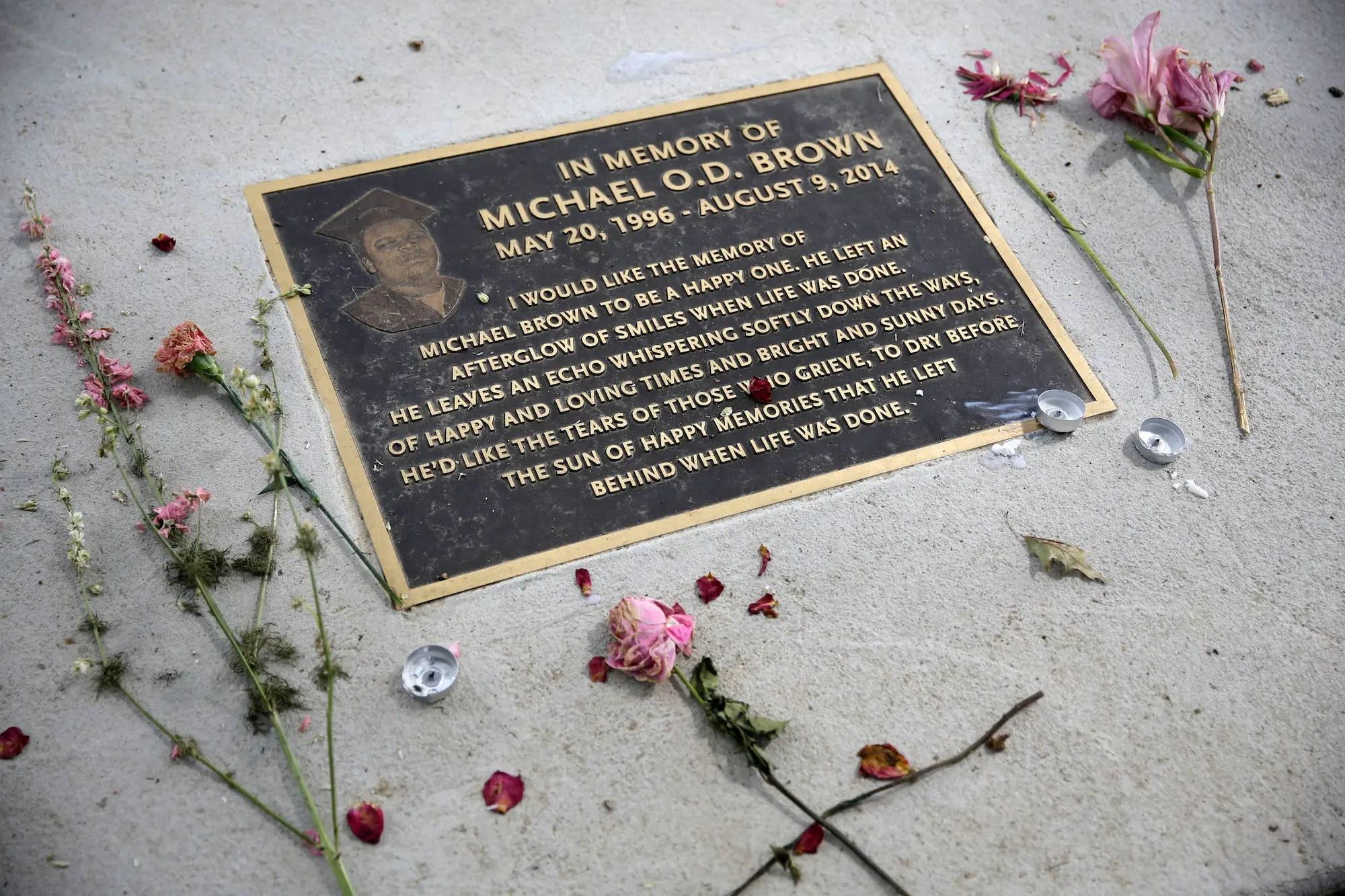 michael brown ferguson memorial