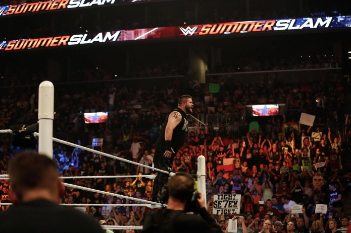 Kevin Owens WWE SummerSlam Now is the best time to try the WWE Network — you can watch SummerSlam for free Now is the best time to try the WWE Network — you can watch SummerSlam for free gettyimages 485075784