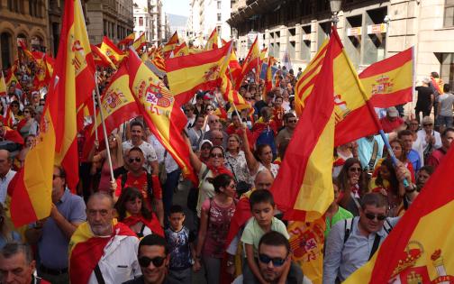 Image result for Pro Spain demonstartions in Catalonia