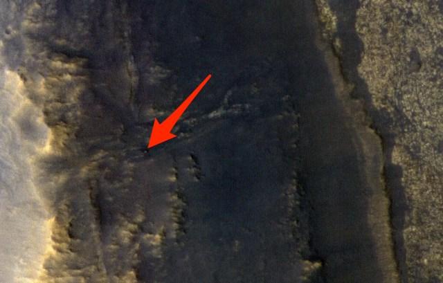 nasa mars opportunity rover hill nasa jpl caltech hirise university arizona PIA22549 labeled