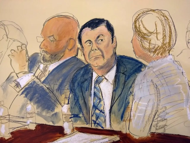 Joaquin El Chapo Guzman trial courtroom sketch