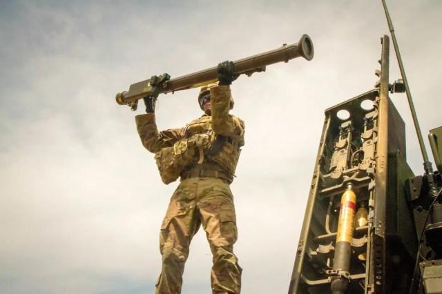 Army Stinger missile Avenger air defense system RIMPAC