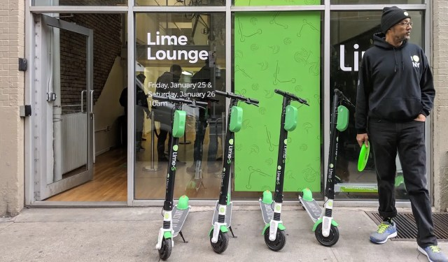 Lime scooter storefront