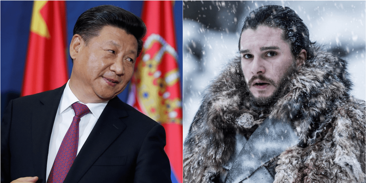 xi jinping game of thrones jon snow