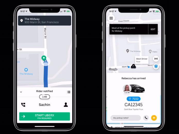 Uber PIN verification