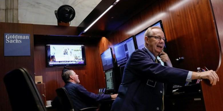 Goldman Sachs NYSE trader