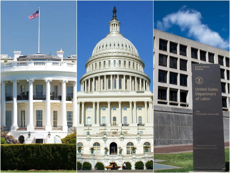 New hires are arriving at the White House, the US Capitol, and federal agencies.