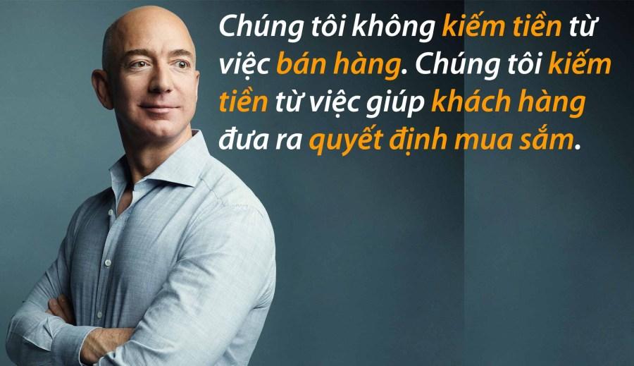 Dưới đây là một số câu nói tiết lộ những triết lý kinh doanh đã giúp tỷ phú Jeff Bezos vươn lên dẫn đầu: