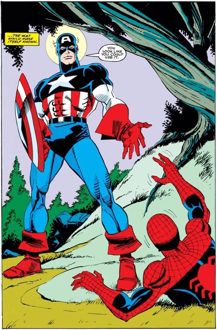 captain america rescues spider