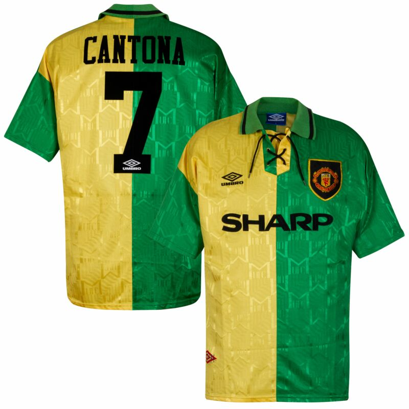 Cantona had grown up as a marseille fan. Umbro Manchester United 1992 1994 3rd Shirt Cantona 7 Used Condition Good Size Xl