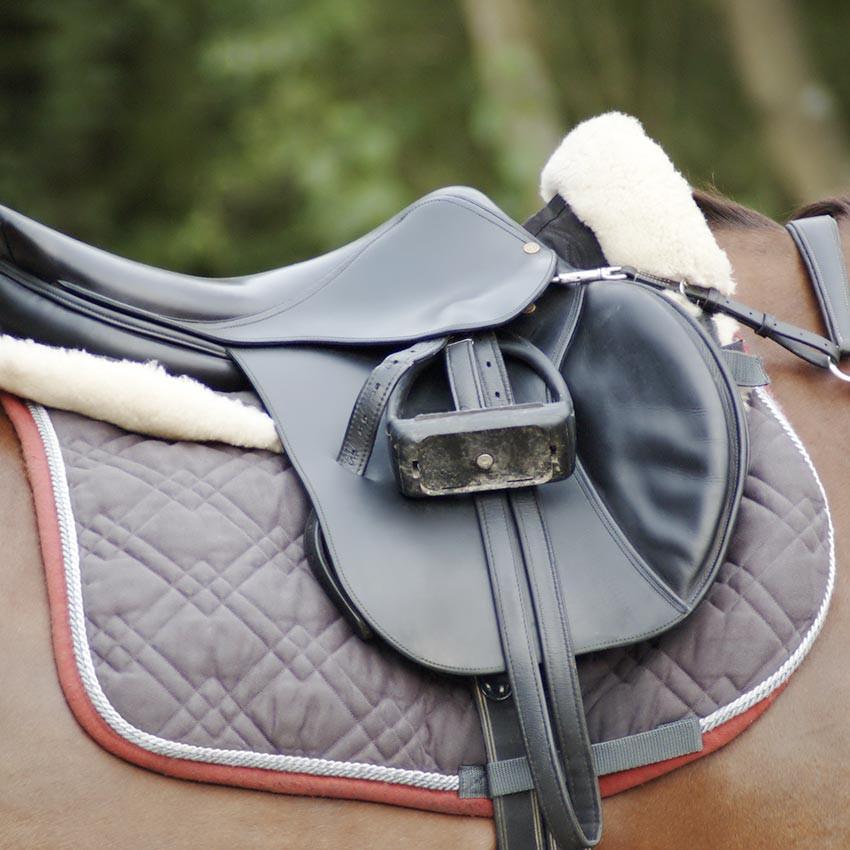 tapis de selle cheval amortisseur dos