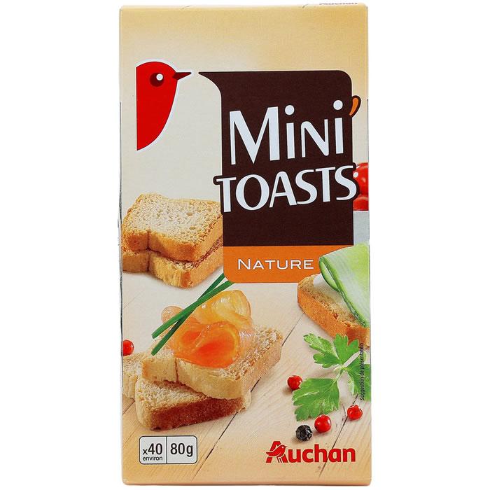 chronodrive auchan mini toasts nature