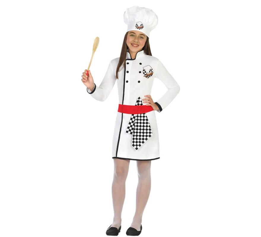 Disfraz de Cocinera Chef para nia
