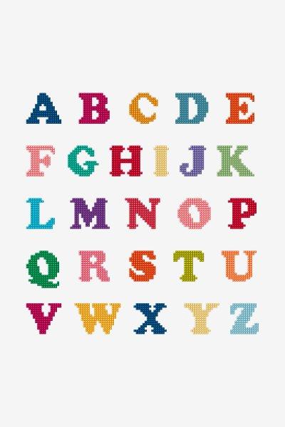 Free Cross Stitch Alphabet Patterns : cross, stitch, alphabet, patterns, Cross, Stitch, Patterns, Theme:, Alphabet, Letters