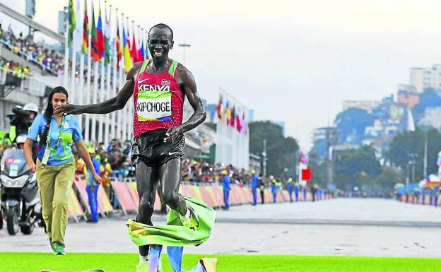 Kipchoge took the Rio marathon, and will try it in Tokyo in 2021.