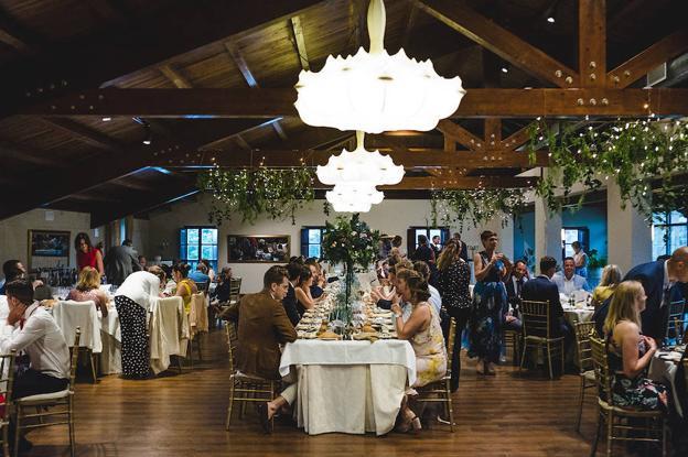 Banquete de la boda de Lucía y Bjorn.
