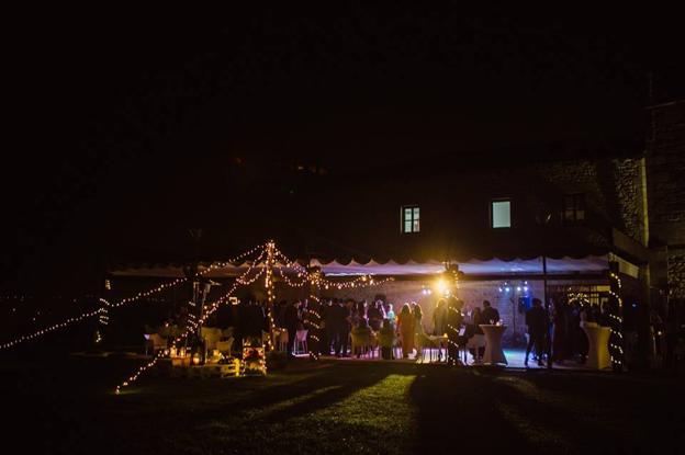 Visión nocturna de la boda de Carmen y Richo.