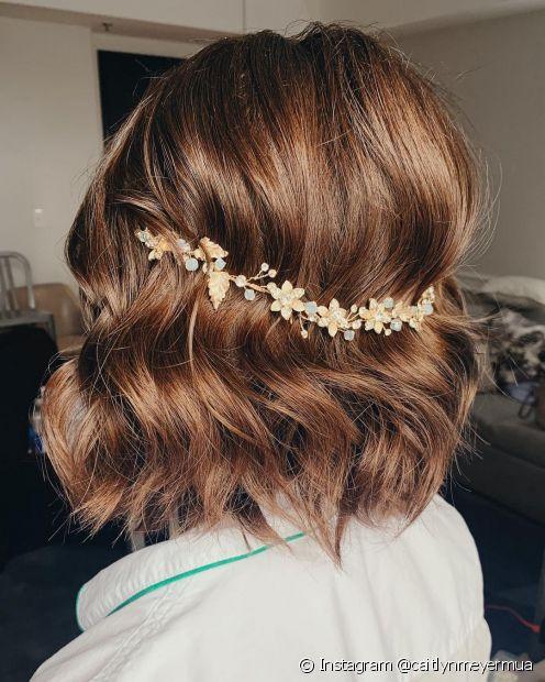 Penteados para noiva com cabelo curto: 5 opções com fios soltos para te  inspirar