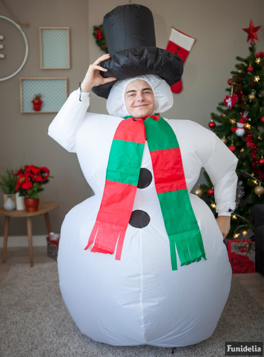 Inflatable Snowman Adult Costume The coolest  Funidelia