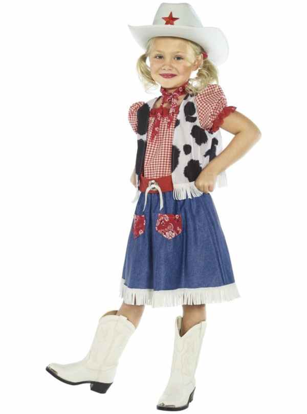 Cutesy Cowgirl Child Costume. Express Delivery Funidelia