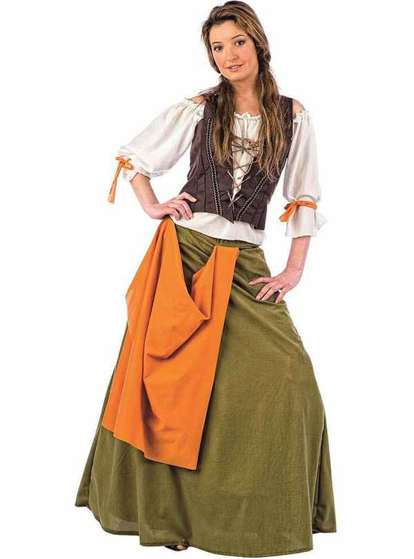 Tavern Maiden Agnes Adult Costume. Express Delivery