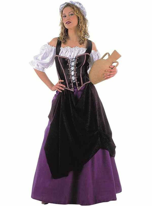 Medieval Tavern Maiden Adult Costume. Express Delivery