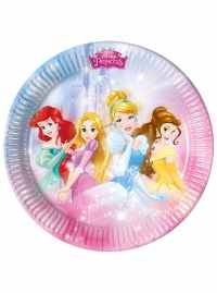Set of 8 Disney Princess Plates for parties and birthdays