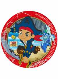 Set of 8 Jake and the Never Land Pirates 23cm Plates