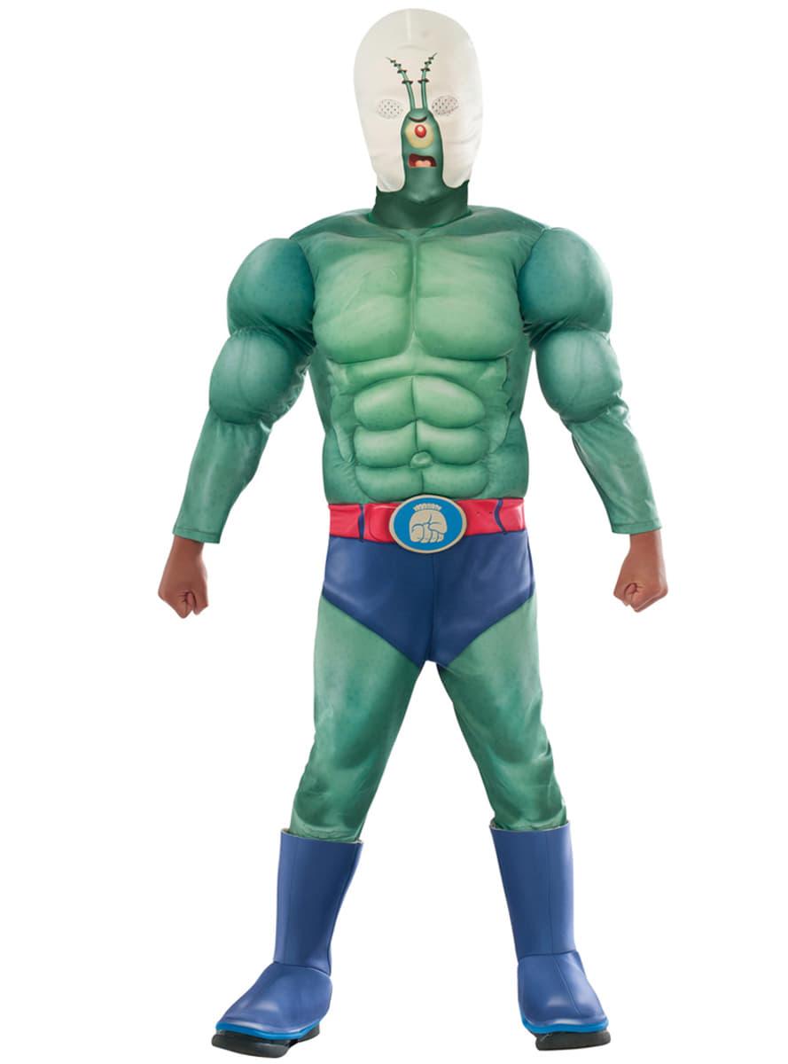 Mens Muscular Plankton SpongeBob Squarepants Movie Costume