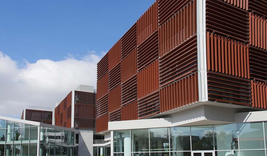 Corten Honeycomb Motorized Louvers  GLASSCON GmbH