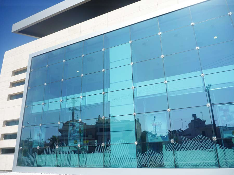 Ballistic Structural Glass Curtain Wall with Glass Fins  GLASSCON GmbH  Architectural Building