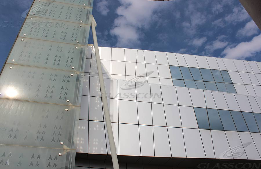 Curtain Walls  Double Skin Faade With Glass Frit  GLASSCON GmbH  Architectural Building