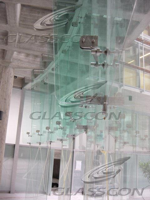 Curved Structural Glass Mullion Wall with Glass Fins  GLASSCON GmbH  Architectural Building