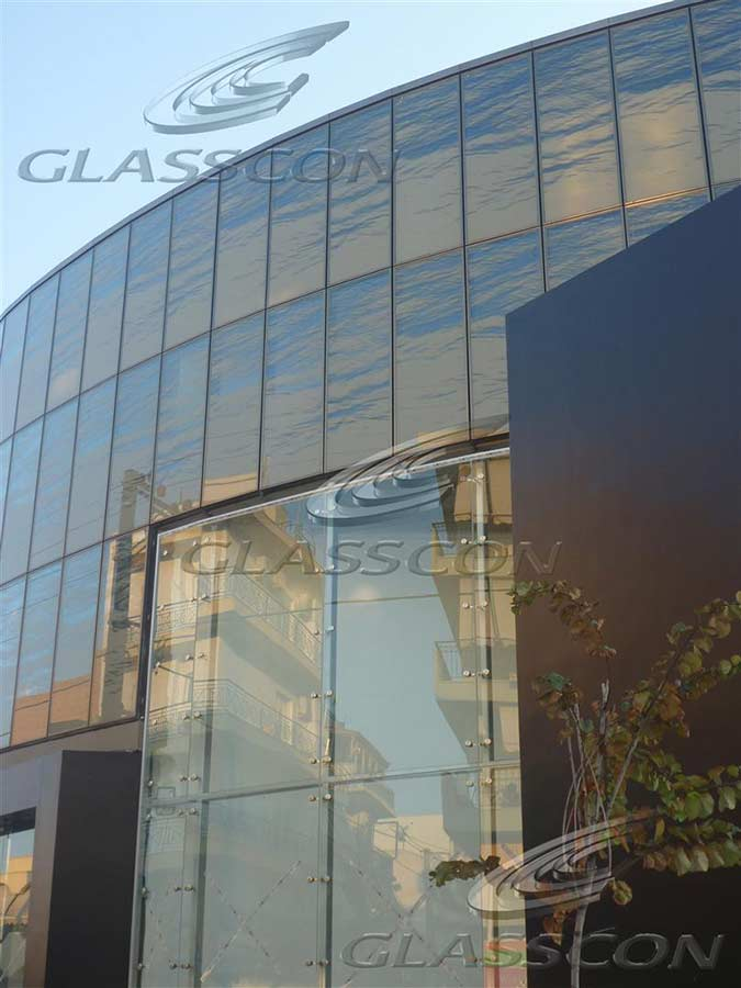Glass Curtain Wall With Silk Printing Screen Printed