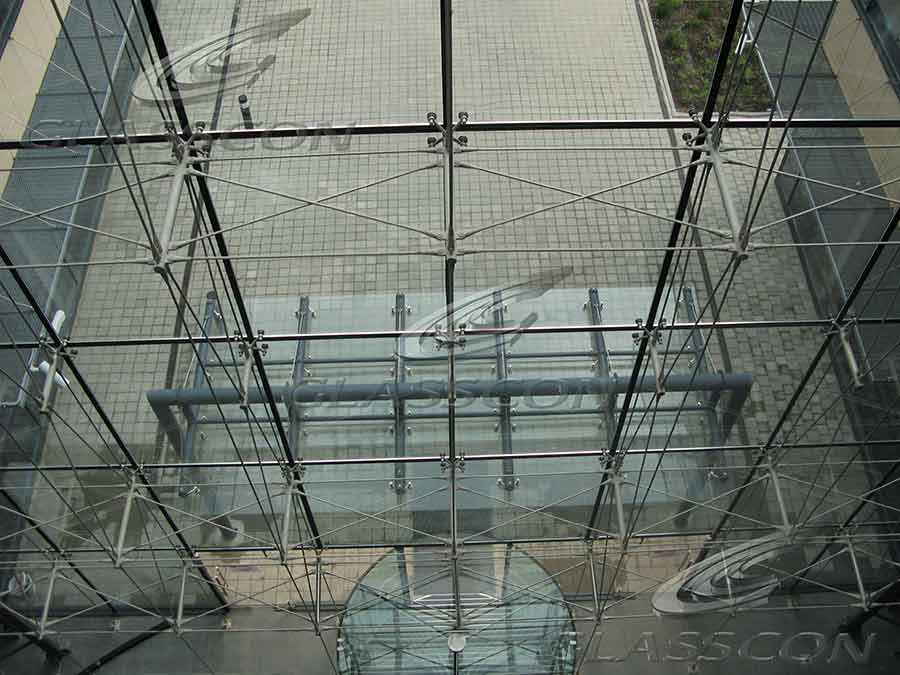 Ceramic Cladding  Spider Glass Curtain Wall Tension Rod