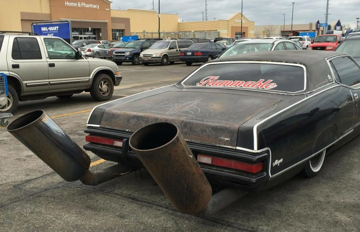 small cars with giant exhaust tips