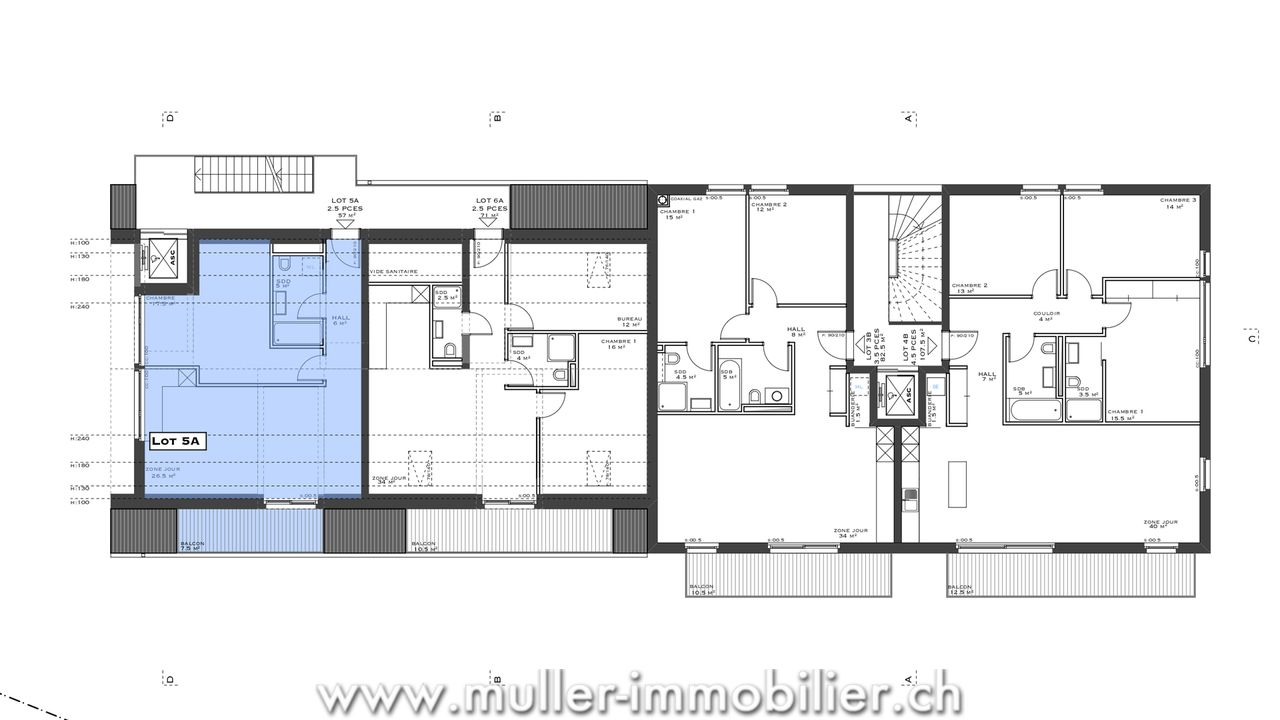 Muller Immobilier  Appartement trs lumineux de 25 pices  Servion