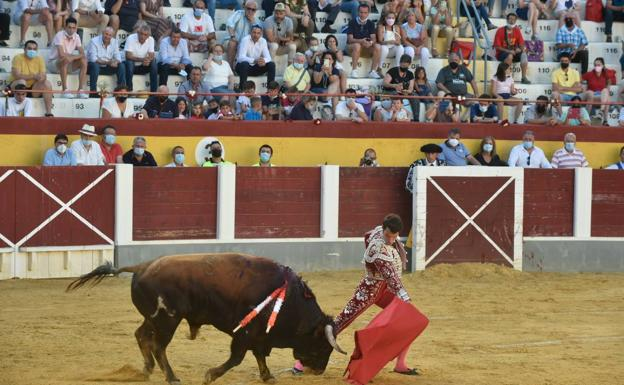 Antonio Puerta during the bullfight this Sunday.