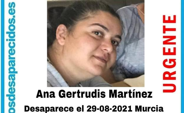 Image of the disappeared woman in Murcia.