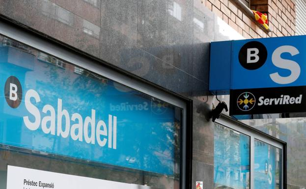 An office of Banco Sabadell.