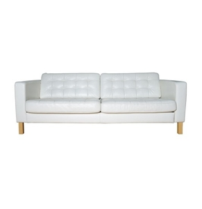 landskrona tufted leather sofa by ikea