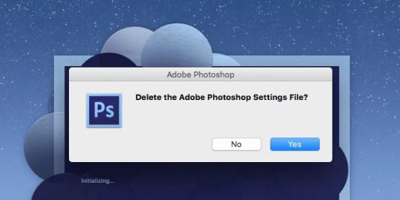 重置Photoshop首选项