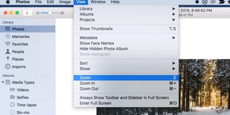 Macで写真を拡大する