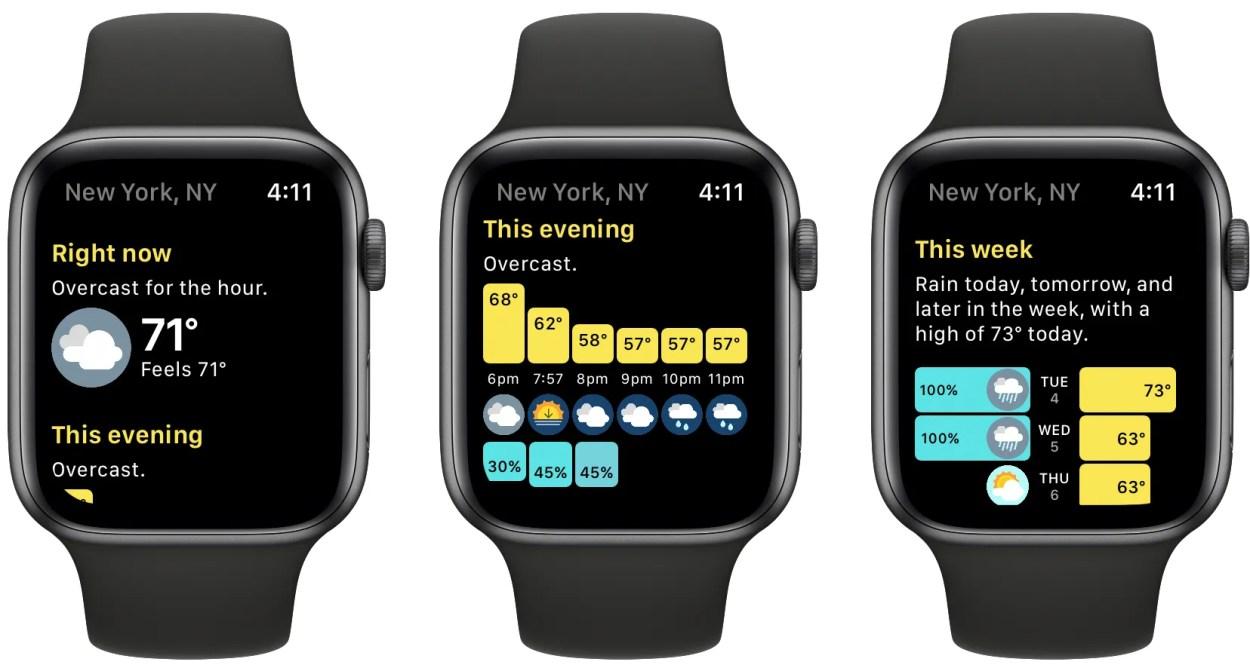 Hello Weather Apple Watch app