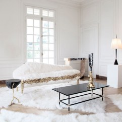 Help Me Accessorize My Living Room Odd Shaped Ideas How To An All White Mansion Global Neutral Flooring And Black Furniture Accessories Add Depth This Luxurious Installation Designed