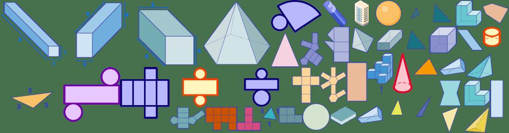 medium resolution of The Worksheet Geometric Nets focuses on Solid Shape Construction