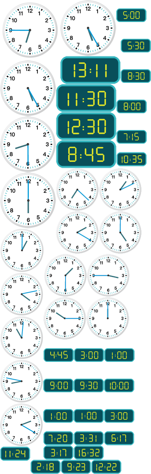 medium resolution of The Worksheet Telling Time to the Minute focuses on Analog and Digital:  24-Hour Clock