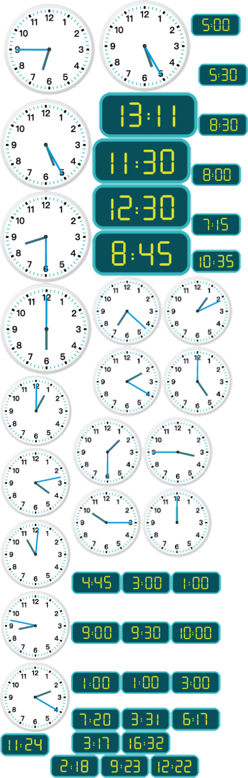 small resolution of The Worksheet Telling Time to the Minute focuses on Analog and Digital:  24-Hour Clock